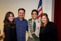 041916 - Daniel Rosette Lifesaving Award at Longhorn Dinner